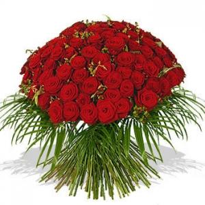 Букет 51 рози - Саксийни цветя Magic Flowers