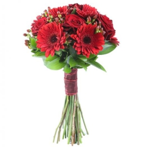 Букет Lady in red - Червени цветя от онлайн магазин за цветя в саксия Magic Flowers