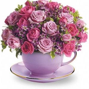 Букет Лилава Рапсодия - Онлайн магазин за цветя в саксия Magic Flowers