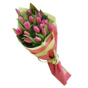 Букет Pink Tulip - Цветя в саксия от онлайн магазин Magic Flowers