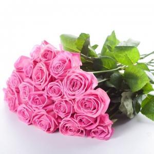 Букет розови рози 15 броя - Онлайн магазин за саксийни цветя Варна Magic Flowers