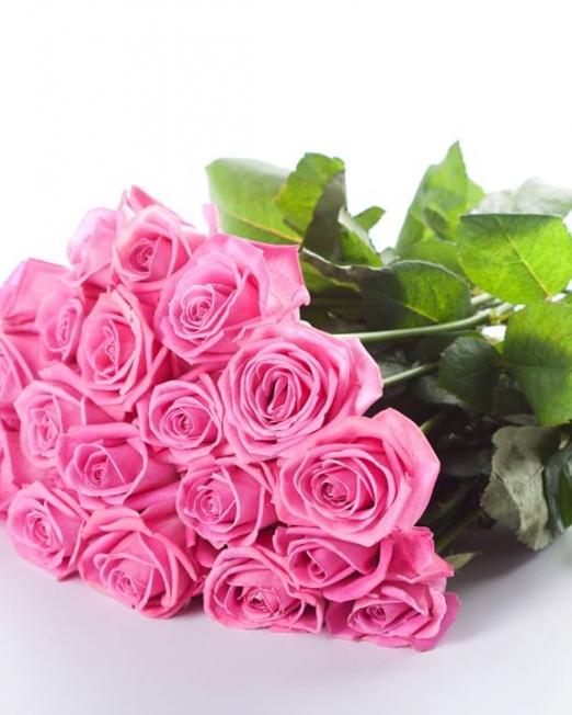 Букет 21 розови рози - Доставка на саксийни цветя Варна Magic Flowers