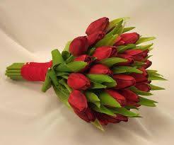 Букет лалета Red Lips - Онлайн магазин за доставка на цветя в саксия Magic Flowers